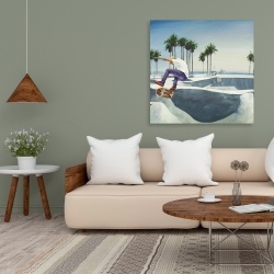 Canvas 36 x 36 - Skate park california