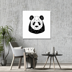 Canvas 36 x 36 - Geometric panda