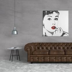 Canvas 36 x 36 - Audrey hepburn outline style
