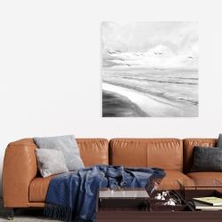 Canvas 36 x 36 - Monochrome tropical sunset