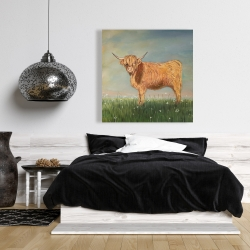 Canvas 36 x 36 - Daisy the highland cow