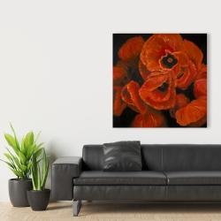 Canvas 36 x 36 - Poppy bouquet
