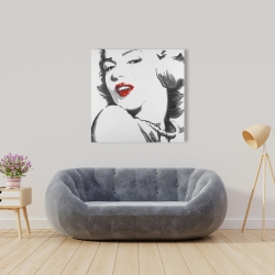 Canvas 36 x 36 - Marilyn monroe outline style