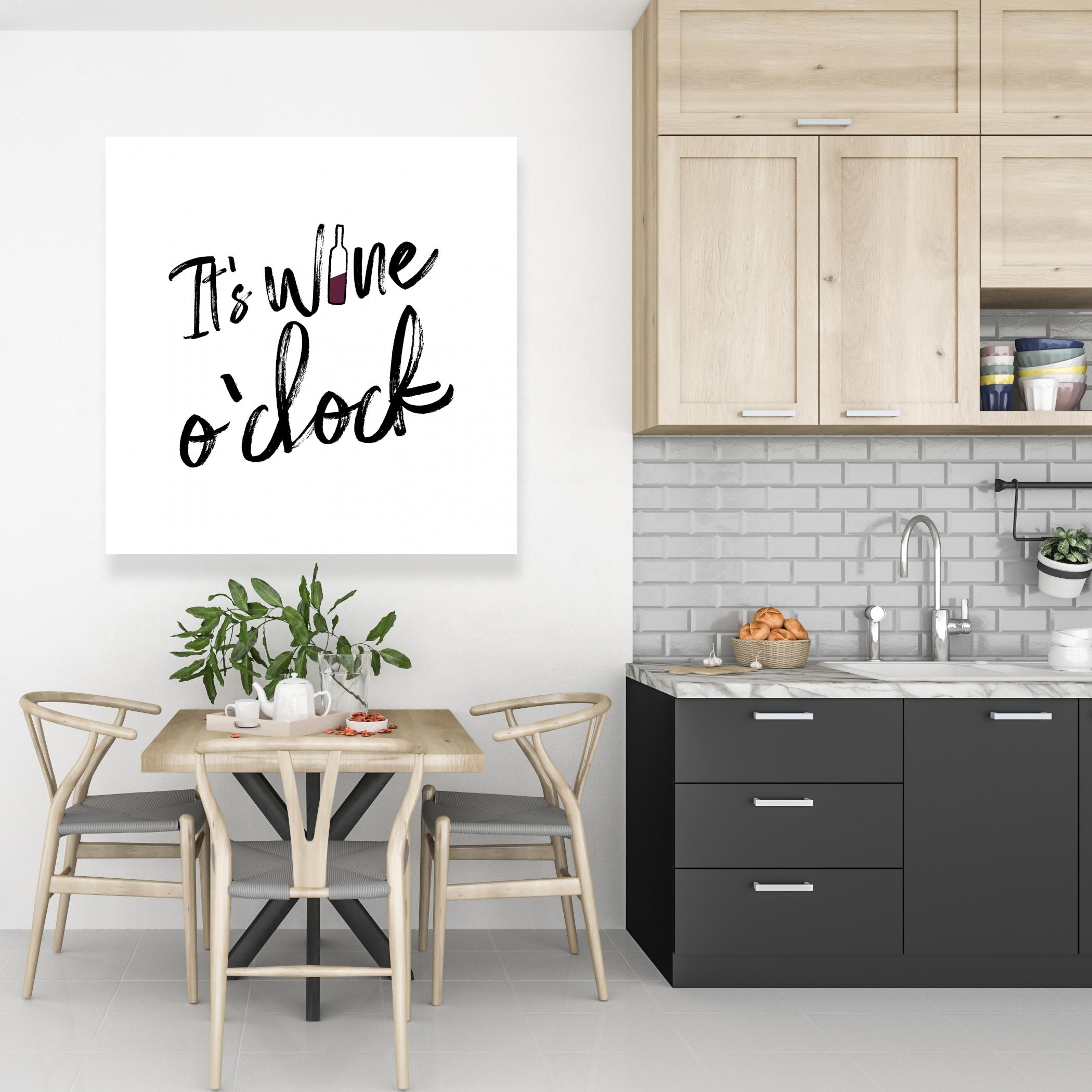 Toile 36 x 36 - C'est l'heure du vin ii