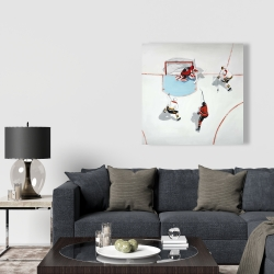 Canvas 36 x 36 - Eventful hockey game