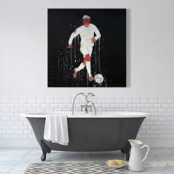 Canvas 36 x 36 - Soccer player