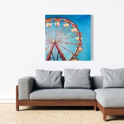 Canvas 36 x 36 - Ferris wheel by a beautiful day