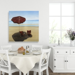 Canvas 36 x 36 - Relax at the beach