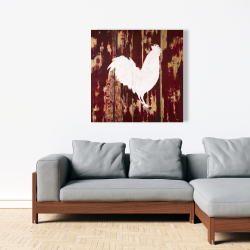 Canvas 36 x 36 - Rooster silhouette