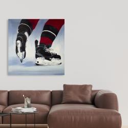 Canvas 36 x 36 - Hockey player