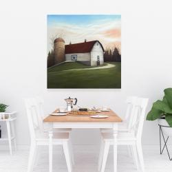 Canvas 36 x 36 - White barn view