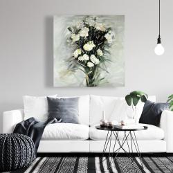 Canvas 36 x 36 - Lisianthus white bouquet