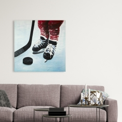 Canvas 36 x 36 - Young hockey player