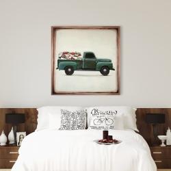 Canvas 36 x 36 - Flowers farm truck