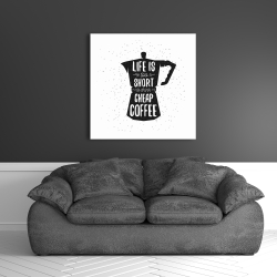 Canvas 36 x 36 - Life and coffee