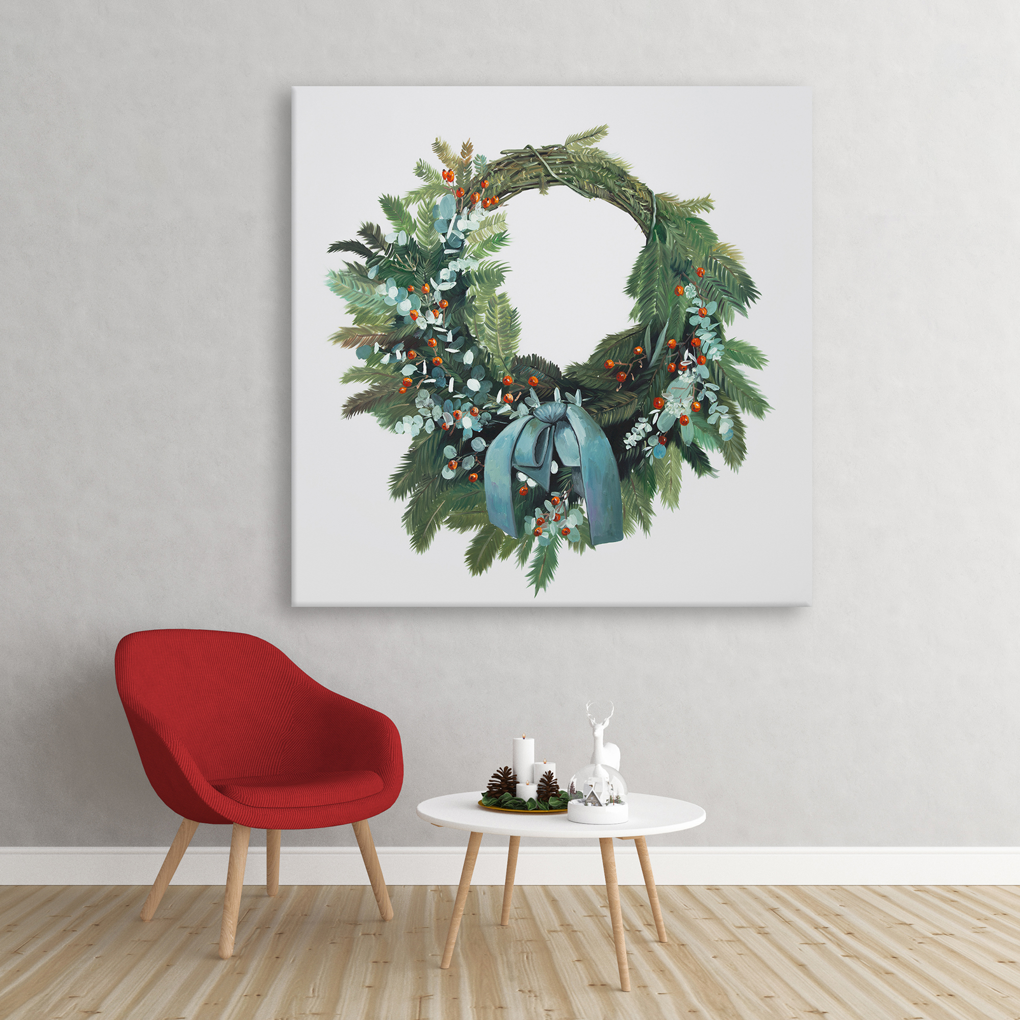 Canvas 36 x 36 - Christmas wreath