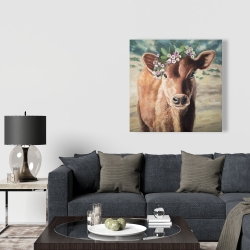 Canvas 36 x 36 - Cute jersey cow