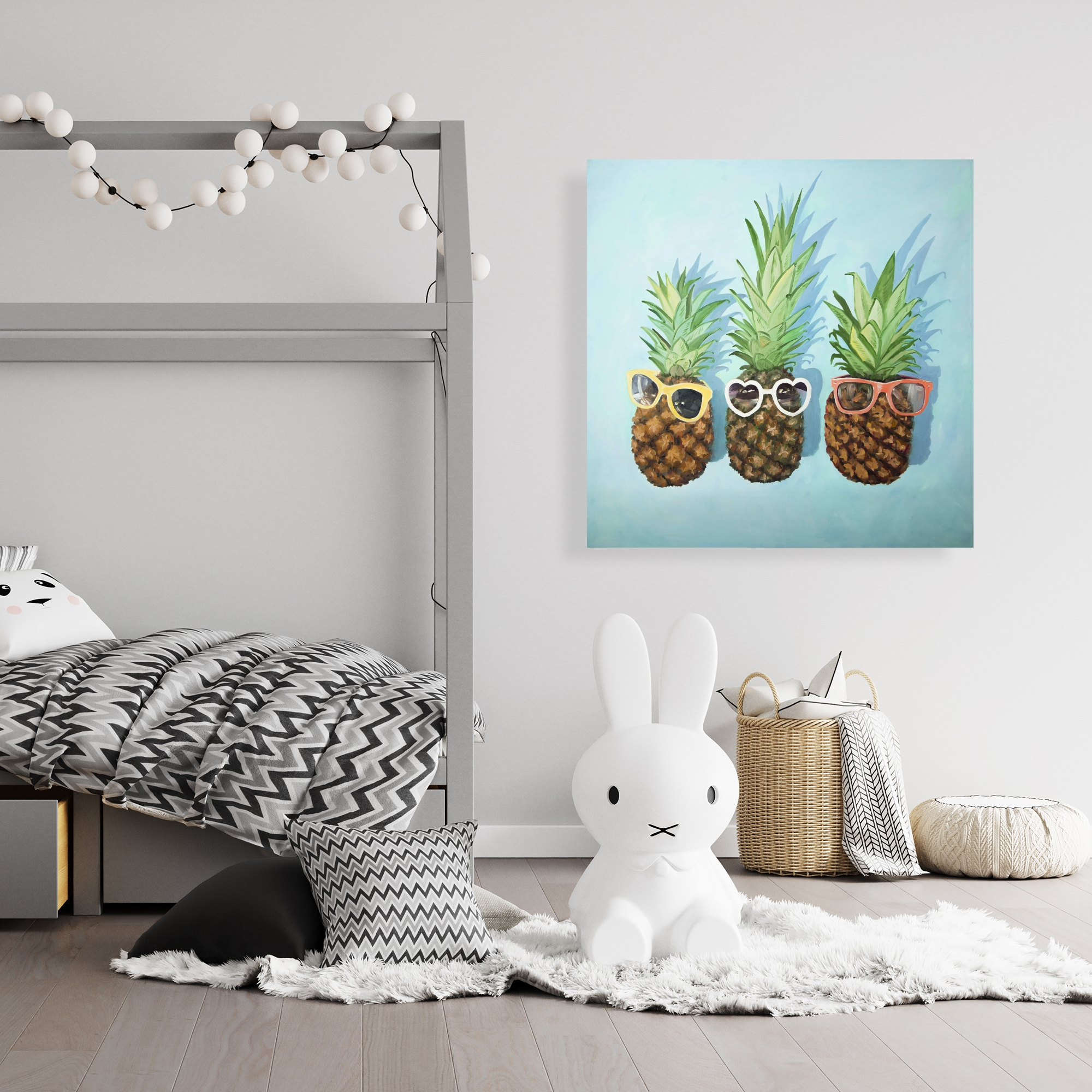 Canvas 36 x 36 - Summer pineapples