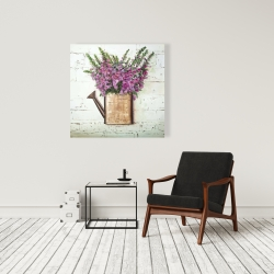 Canvas 36 x 36 - Purple foxglove flowers