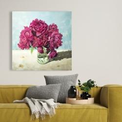 Canvas 36 x 36 - Fuchsia peony