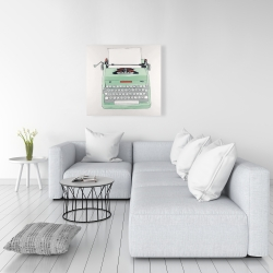 Canvas 36 x 36 - Mint typewriter