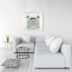 Canvas 36 x 36 - Mint typewriter
