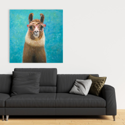 Canvas 36 x 36 - Lovable llama