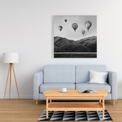 Canvas 36 x 36 - Air balloon landscape