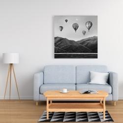 Canvas 36 x 36 - Air balloon landscape