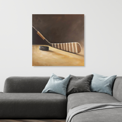 Canvas 36 x 36 - Stick and hockey puck