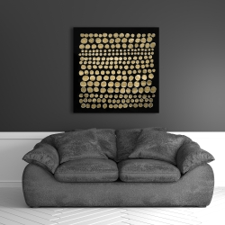 Canvas 36 x 36 - Dots on gold