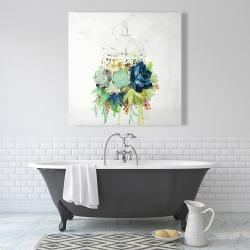 Canvas 36 x 36 - Bird cage with cactus