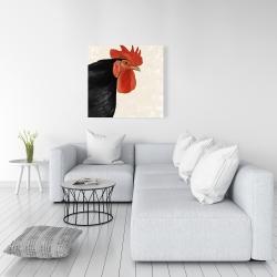 Canvas 36 x 36 - Black hen