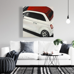 Canvas 36 x 36 - Italian red and white car