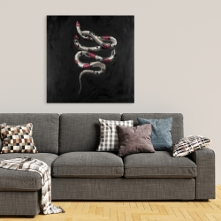 Canvas 36 x 36 - Snake flowers