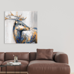 Canvas 36 x 36 - Golden deer