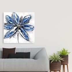 Canvas 36 x 36 - Blue petal