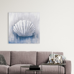 Canvas 36 x 36 - Blue feston shell