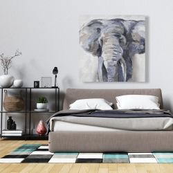 Canvas 36 x 36 - Pastel blue elephant