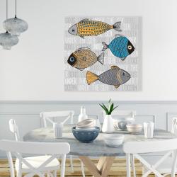 Canvas 36 x 36 - Fishes' illustration