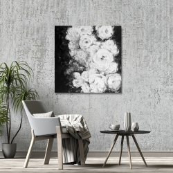 Canvas 36 x 36 - Monochrome rose garden