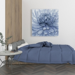 Canvas 36 x 36 - Blue petals flower