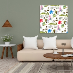 Canvas 36 x 36 - Tropical pattern