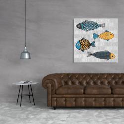 Canvas 36 x 36 - Illustration of nautical fish