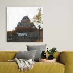 Canvas 36 x 36 - Le château de frontenac in autumn