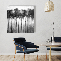 Canvas 36 x 36 - Abstract forest black and white