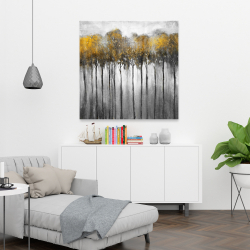 Canvas 36 x 36 - Abstract yellow forest