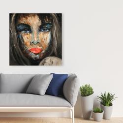 Canvas 36 x 36 - Colorful portrait