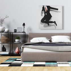 Canvas 36 x 36 - Classical jumping man