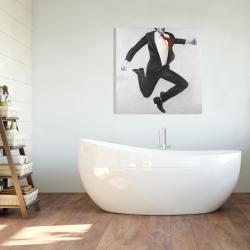 Canvas 36 x 36 - Happy classic man